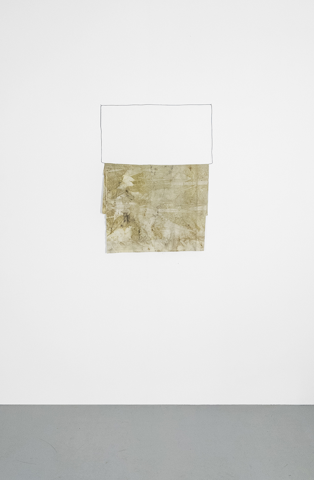 Francesco Fossati, Pacciame [Mulch], 2020, ecoprint on organic cotton and wire, 64 x 102 cm