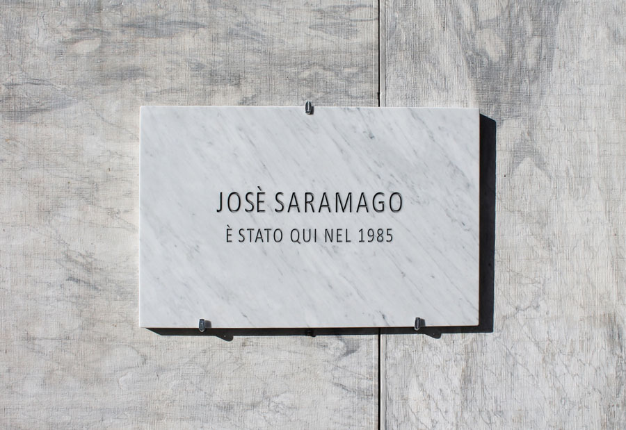 Saramago (from the series Fake History), 2015, Carrara Marble plaque, 80 x 50 x 3 cm