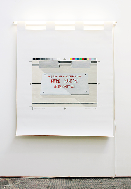 Francesco Fossati, Update Required, 2012, installation view at Museo di Arte Contemporanea Lissone