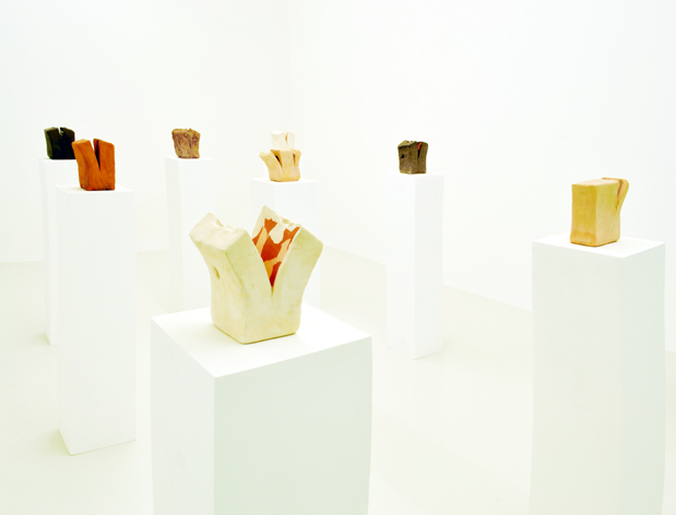 Francesco Fossati, sculture, 2012, installation view at Galleria Cart